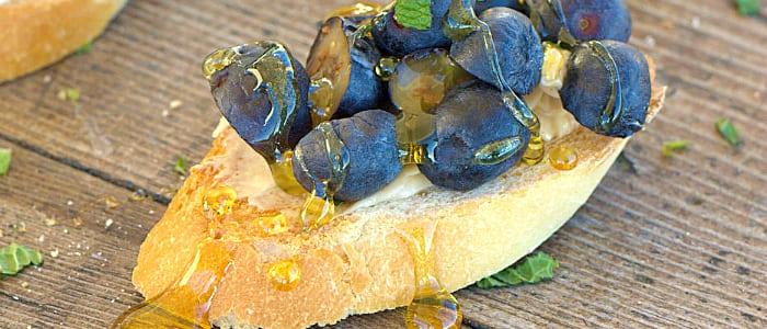 Fresh Blueberry Dessert Bruschetta Recipe — Dishmaps