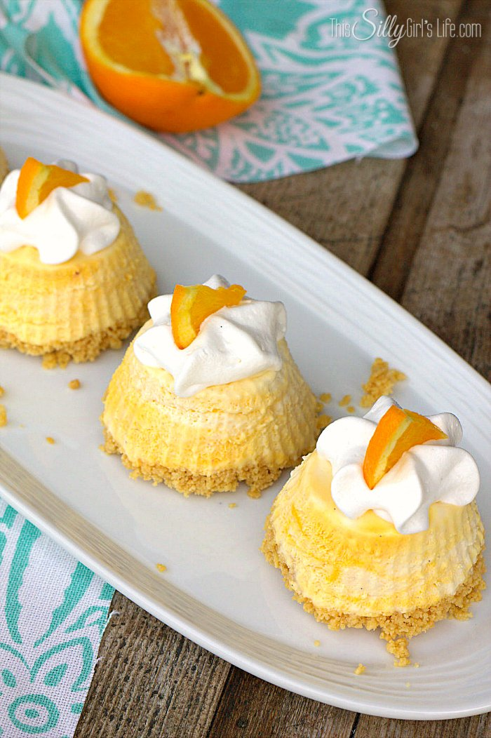 Individual Frozen Creamsicle Pies