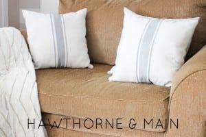 DIY Grain Sack Pillows {contributor Shonee}