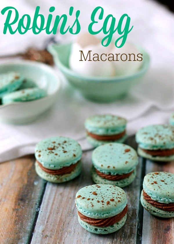 Robin's+Egg+Macarons.++Easy+to+make+and+perfect+for+Spring!