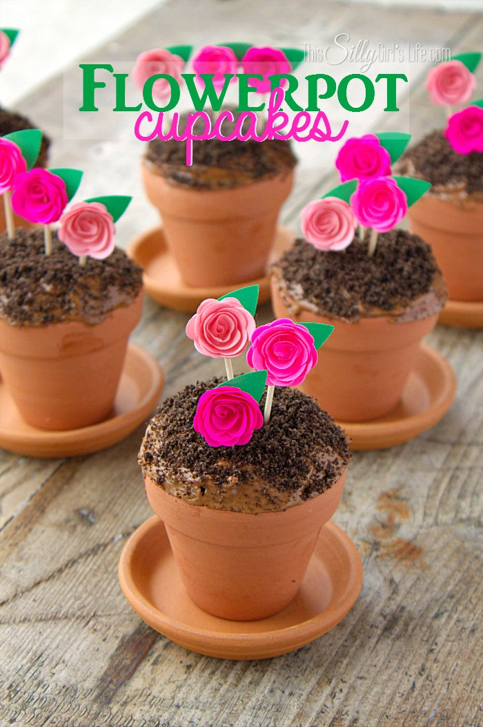 Teracota plant pots Large Flowerpot Cupcakes Chocolate Devils Food Cake Baked In Mini Terracotta Flower Pots Topped With Cool Crafts Flowerpot Cupcakes This Silly Girls Kitchen