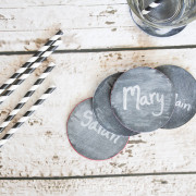 Chalk board coasters 4