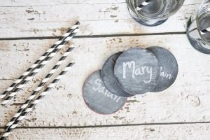 DIY Chalkboard Coasters {contributor Shonee}