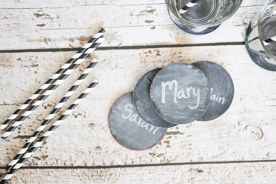 Chalk board coasters 4