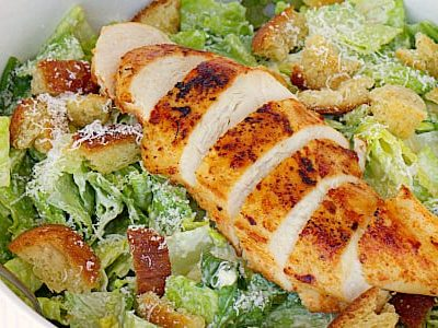 Smoked Caesar Salad with Chicken