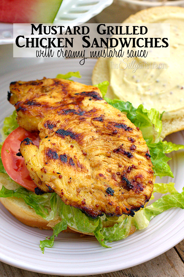 Mustard Grilled Chicken Sandwiches with Creamy Mustard Sauce, the most ...