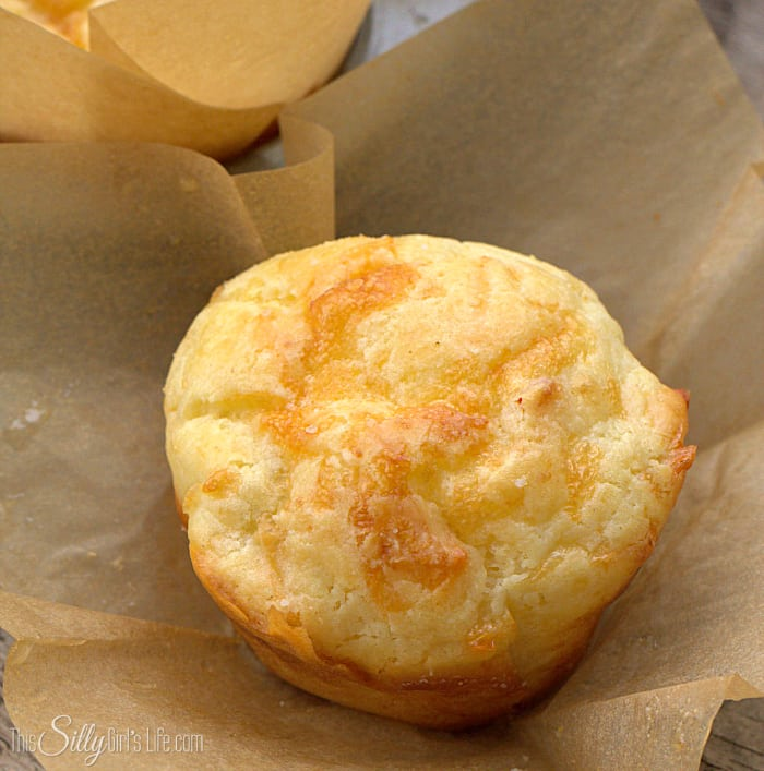 Pepper Jack Cheese Muffins, quick and easy tender, cheesy muffins with a hint of spice that will pair perfectly with almost any meal! - ThisSillyGirlsLife.com #PepperJack #CheeseMuffins