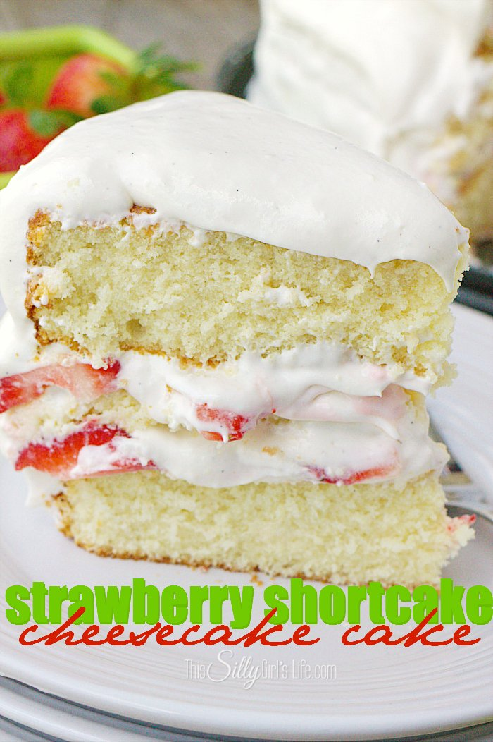 Strawberry Shortcake Cheesecake Cake , creamy cheesecake sandwiched ...