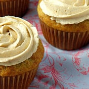 Banana Cupcakes with Brown Sugar Frosting from ThisSillyGirlsLife feature
