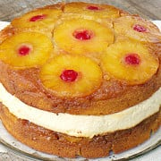 Pineapple Upside Down Cake Cheesecake from ThisSillyGirlsLife feature