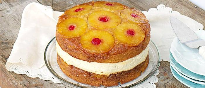 No Bake Pineapple Upside Down Cake
