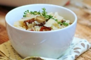 Oven Baked Risotto with Bacon and Mushrooms {contributor Alison}