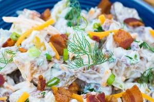 Cheddar Bacon Ranch Potato Salad