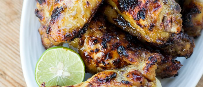 Grilled Key Lime Chicken Wings