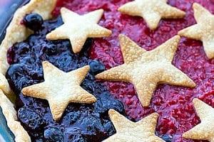 Patriotic Mixed Berry Pie