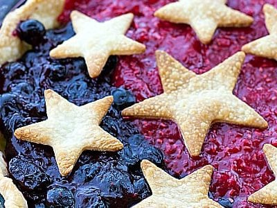 Patriotic Mixed Berry Pie