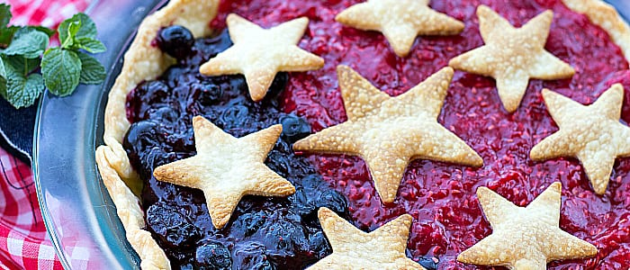 Patriotic Mixed Berry Pie from ThisSillyGirlsLife feature