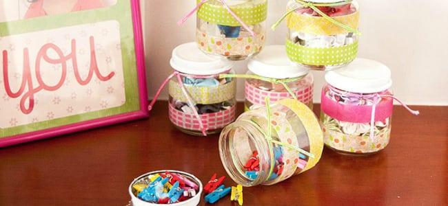 Washi Tape Recycled Jars {contributor Cami}