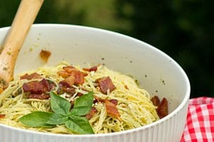 Bacon Pesto Pasta