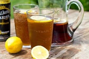Boozy Half and Half Lemonade Iced Tea