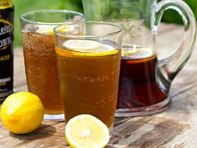 Boozy Half and Half Lemonade Iced Tea