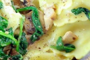 Artichoke Ravioli with Mushrooms and Spinach {contributor Alison}