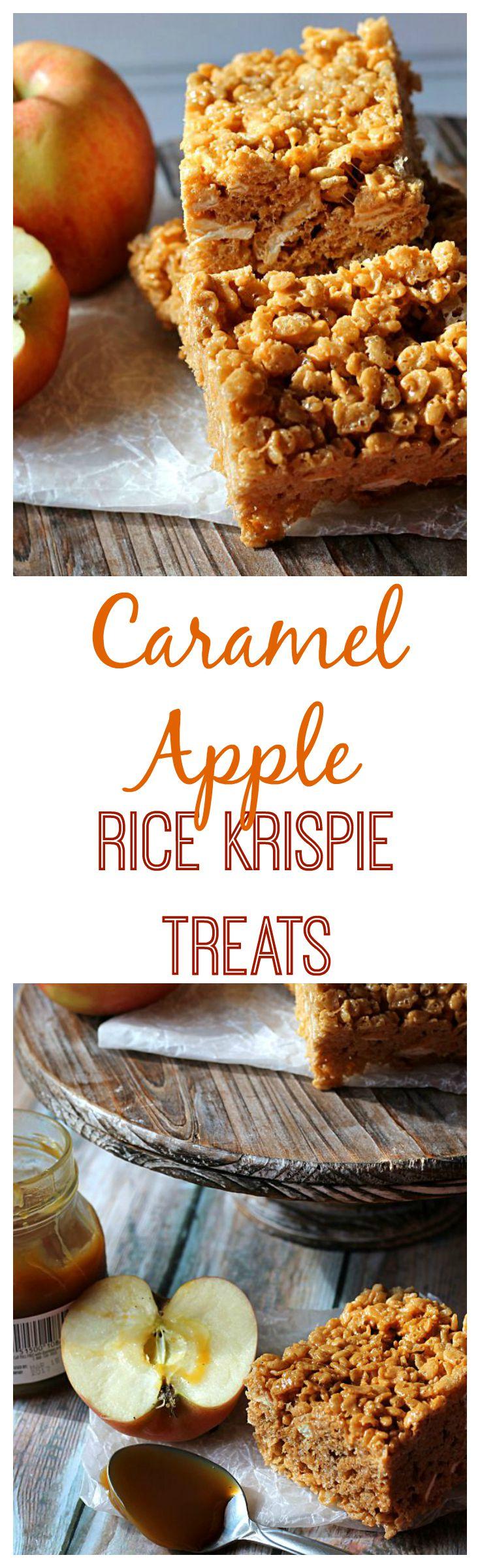 Caramel Apple Rice Krispie Treats