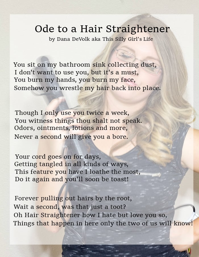 Ode to a Hair Straightener from ThisSillyGirlsLife.com #helpmeforget #ad #sponsored