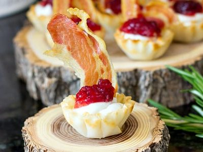 Creamy Cranberry Pancetta Bites