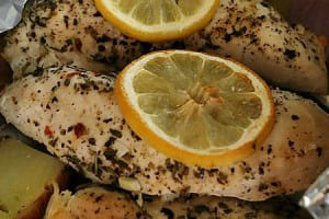 Italian Lemon Chicken Foil Packet