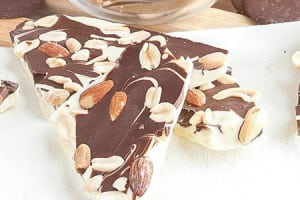 Mixed Nuts Double Chocolate Bark