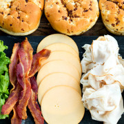 Ultimate Turkey Bacon Cranberry Sandwiches for Game Day from This Silly Girls Kitchen feature