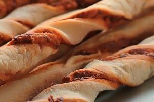 Twisted Chorizo Breadsticks