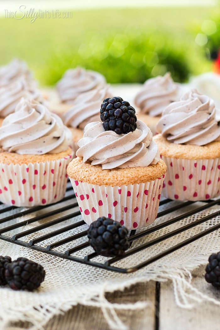 Angel-Food-Cupcakes-with-Blackberry-Frosting-from-ThisSillyGirlsLife-4