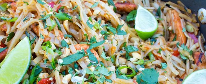 Healthy Chicken Pad Thai from This Silly Girls Kitchen-feature