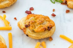 Spicy Cheddar Bacon Ranch Pinwheels