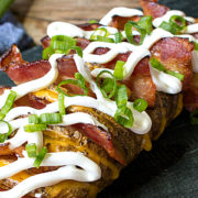 Fully Loaded Hasselback Potatoes from This Silly Girls Kitchen-feature