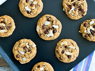Soft Coconut Chocolate Chip Cookies