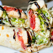 Caprese Chicken Wraps from This Silly Girls Kitchen-feature