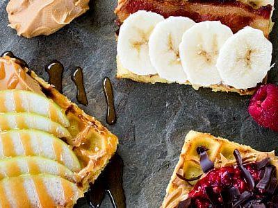 Waffle Toast 3 Ways