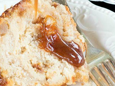 Caramel Apple Cheesecake Filled Butter Cake