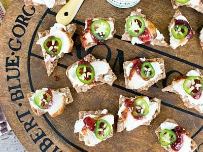 Sweet and Spicy Chicken Canapés