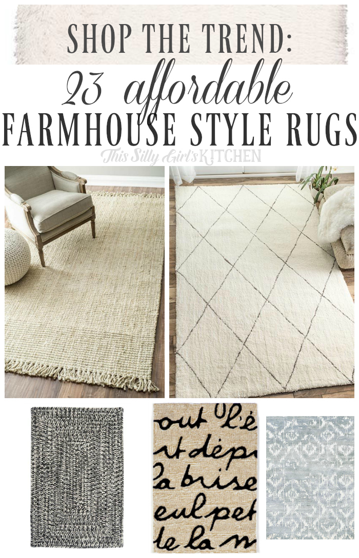 shop the trend 23 affordable farmhouse style rugs this