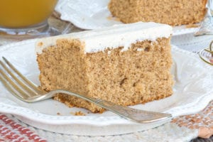 Spiced Apple Cider Sheet Cake