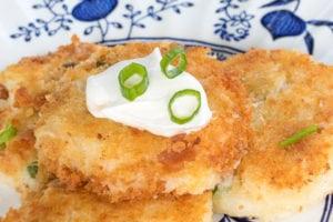 Fried Loaded Mashed Potato Bites