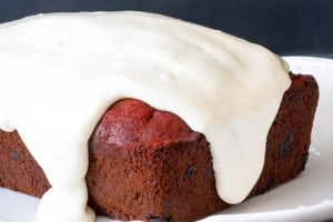 Chocolate Chip Red Velvet Banana Bread