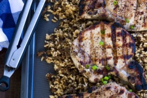 Brown Sugar Brined Grilled Pork Chops