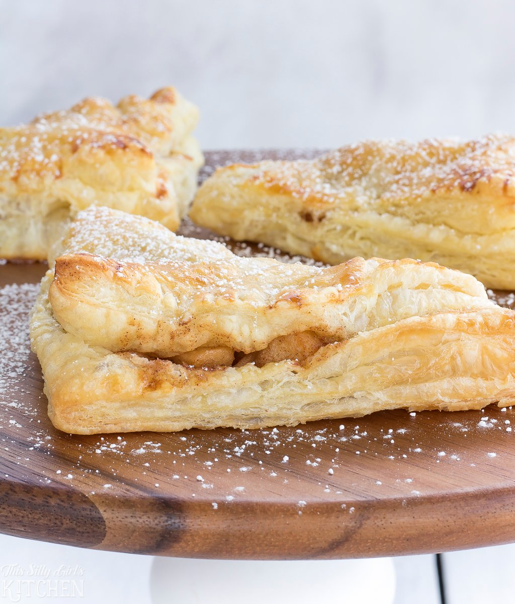 Fried Apple Turnovers, puff pastry filled with stove-top homemade fried apples!