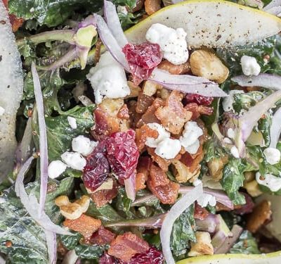 Warm Bacon, Pear and Kale Salad