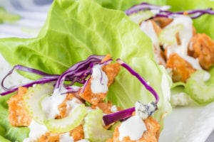 Buffalo Chicken Lettuce Wrap